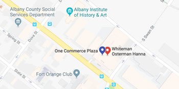 Google Map of Brian M. Wang | Whiteman Osterman & Hanna LLP's Location